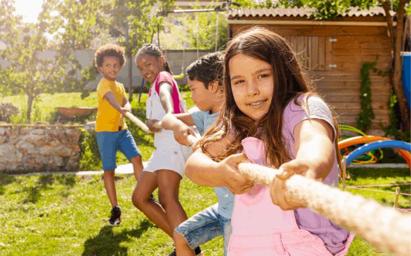 kids camping games